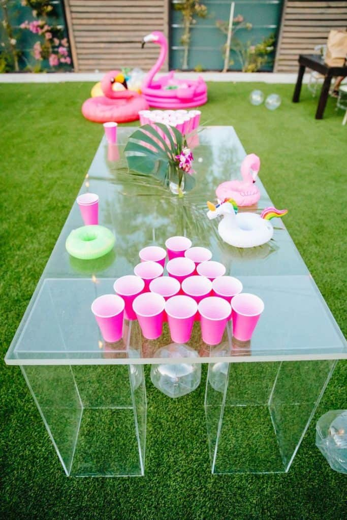 birthday party beer pong